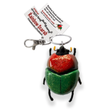Kamibashi Rainbow Scarab String Doll Keychain