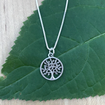 Women's Peace Collection Tree of Life Sterling Necklace