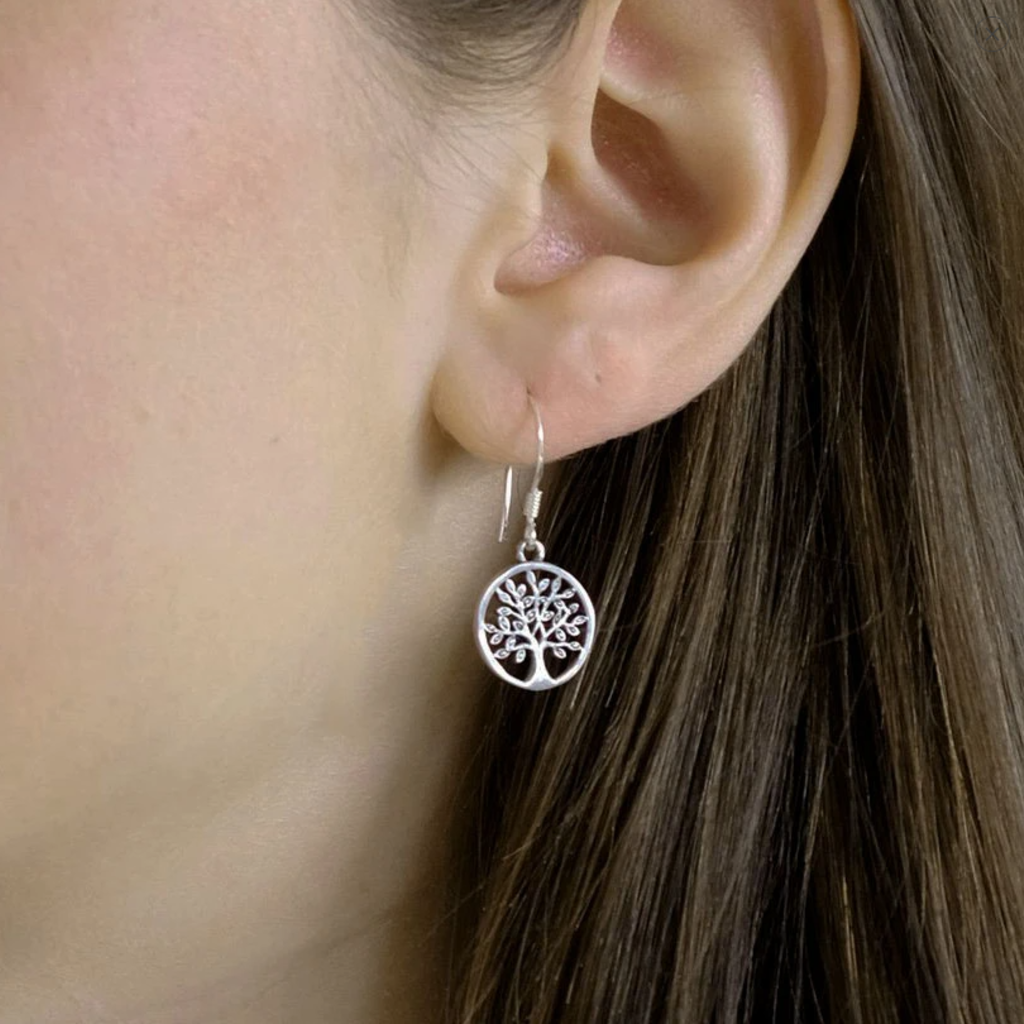 Women's Peace Collection Tree of Life Sterling Earrings