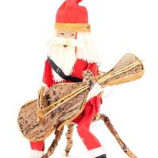 Swahili Imports Guitar Santa Claus Banana Fiber Ornament