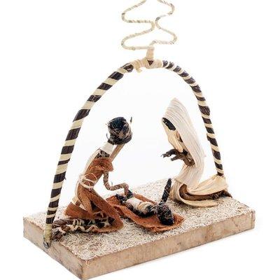 Swahili Imports Simple Arch Banana Fiber Nativity