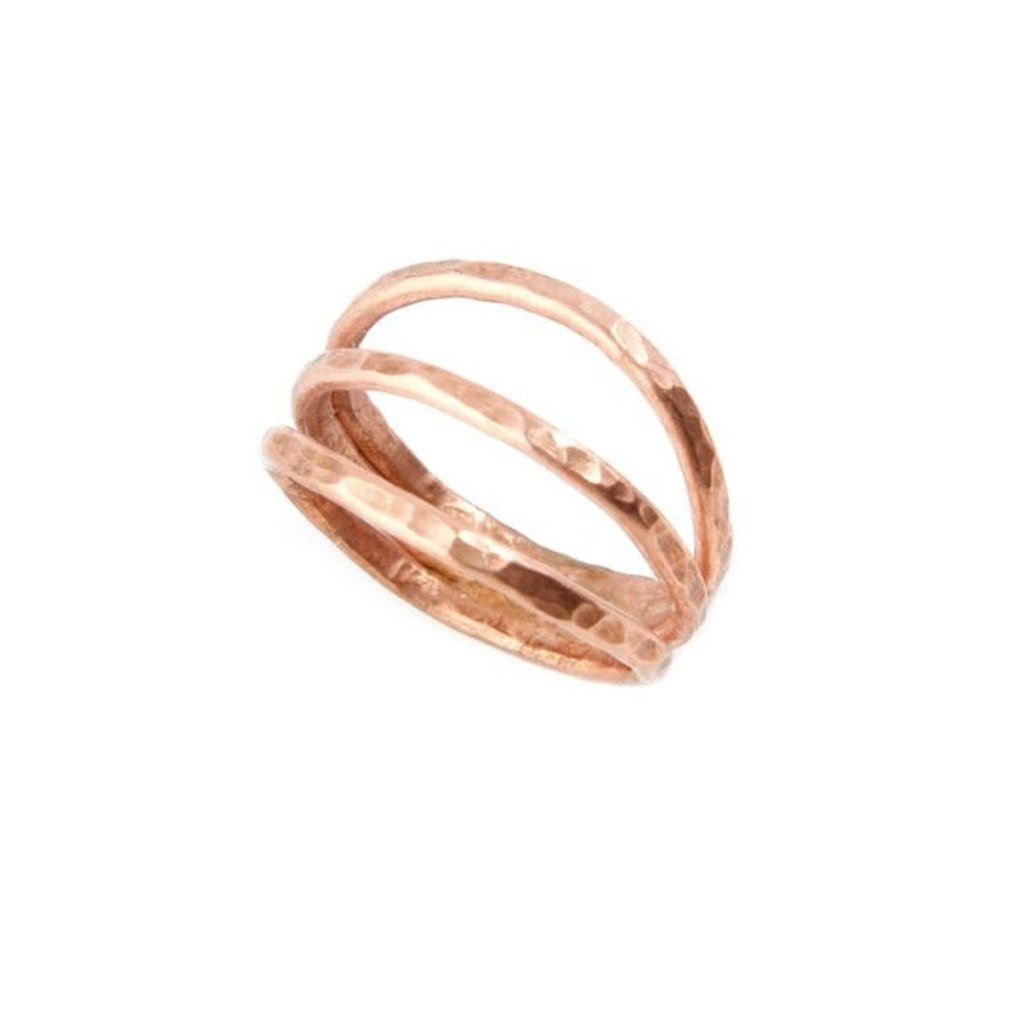 Swahili Imports Kindred Hammered Copper Ring