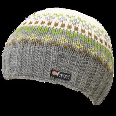 Everest Designs Brooklyn  Fleece Lined Wool Grey  Beanie Hat