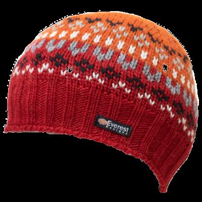 Everest Designs Brooklyn  Fleece Lined Wool Rust  Beanie Hat