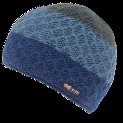 Everest Designs Cascade  Fleece Lined Wool Blue  Beanie Hat