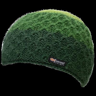 Everest Designs Cascade  Fleece Lined Wool Green  Beanie Hat
