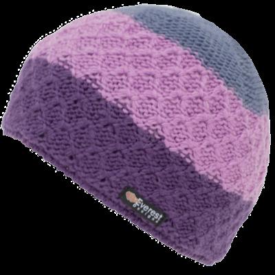 Everest Designs Cascade  Fleece Lined Wool Pink  Beanie Hat