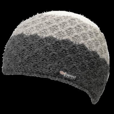 Everest Designs Cascarde  Fleece Lined Wool Charcoal  Beanie Hat