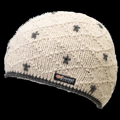 Everest Designs Dolma Fleece Lined Wool Ivory Beanie Hat