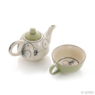 Serrv Dragonfly Ceramic Tea for One