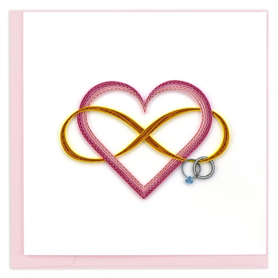 Quilling Card Infinite Love Quilled Card