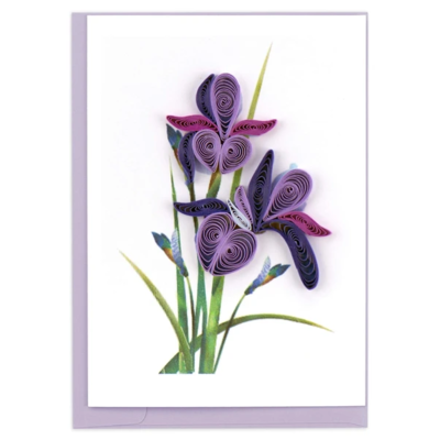Quilling Card Iris Quilled Gift Enclosure Card