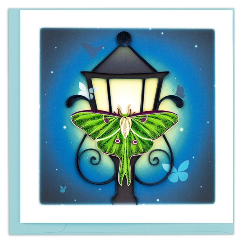 Quilling Card Luna Moth Quilled Card