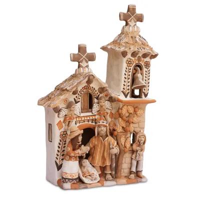 Lucuma Medium Ceramic Church Nativity