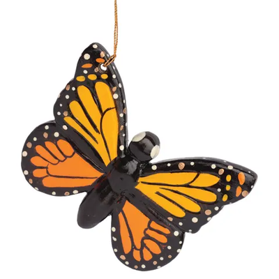 Lucuma Monarch Butterfly Ceramic Ornament