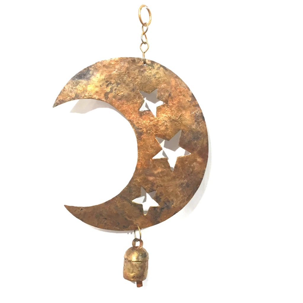 Mira Fair Trade Moon and Stars Reused Metal Chime