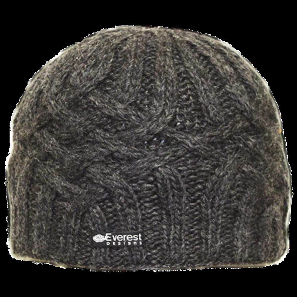 Everest Designs Niroj Fleece Lined Wool Charcoal Beanie Hat