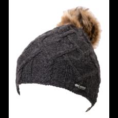 Everest Designs Priya Fleece Lined Wool Charcoal Beanie Hat