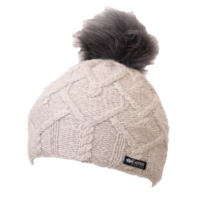 Everest Designs Priya Fleece Lined Wool Ivory Beanie Hat