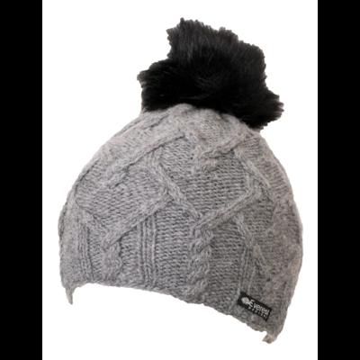 Everest Designs Priya Fleece Lined Wool Silver Beanie Hat