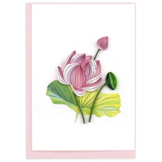 Quilling Card Quilled Pink Lotus Notecard Box Set