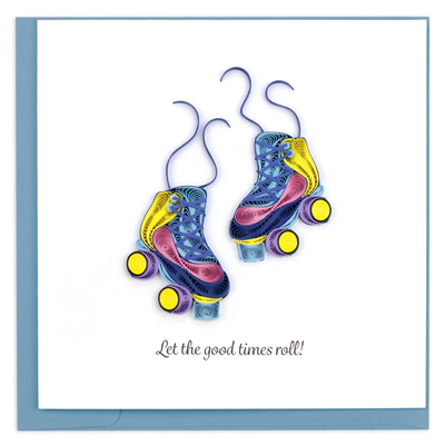 Quilling Card Roller Skates Quilled Card
