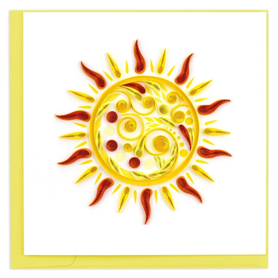 Quilling Card Shining Sun Quilled Card