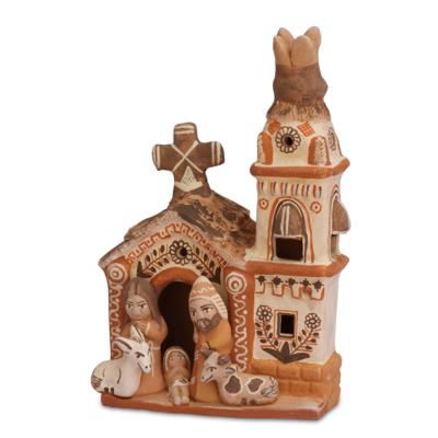 Lucuma Small Ceramic Church Nativity