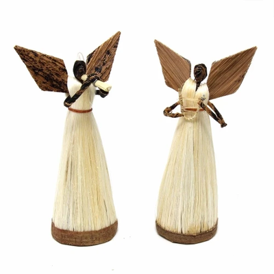 Global Crafts Standing Sisal Musical Angels