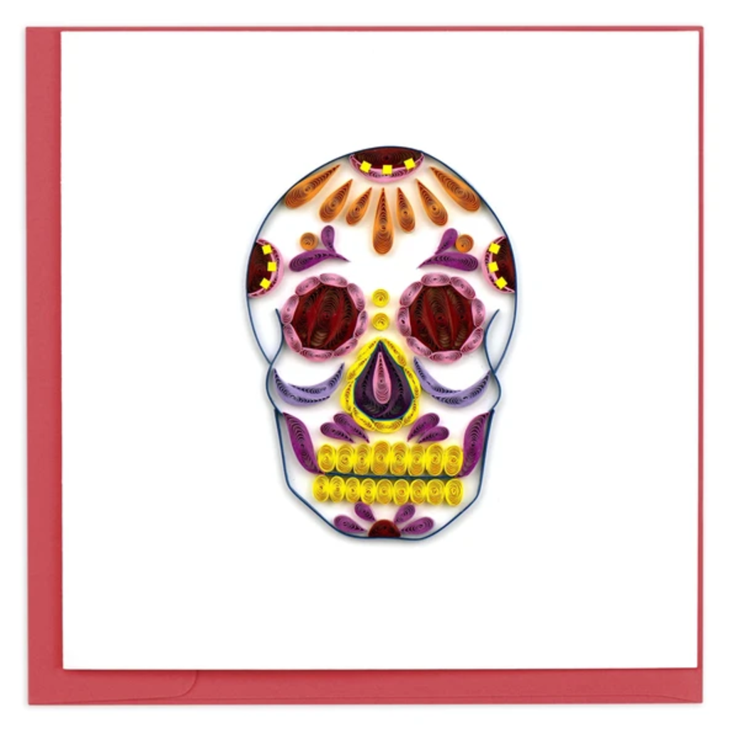 Quilling Card Sugar Skull Quilled Card