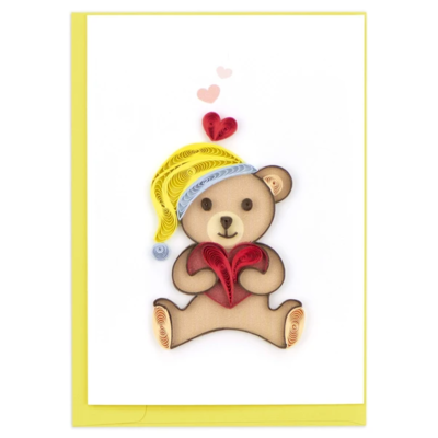 Quilling Card Teddy Bear Quilled Gift Enclosure Card