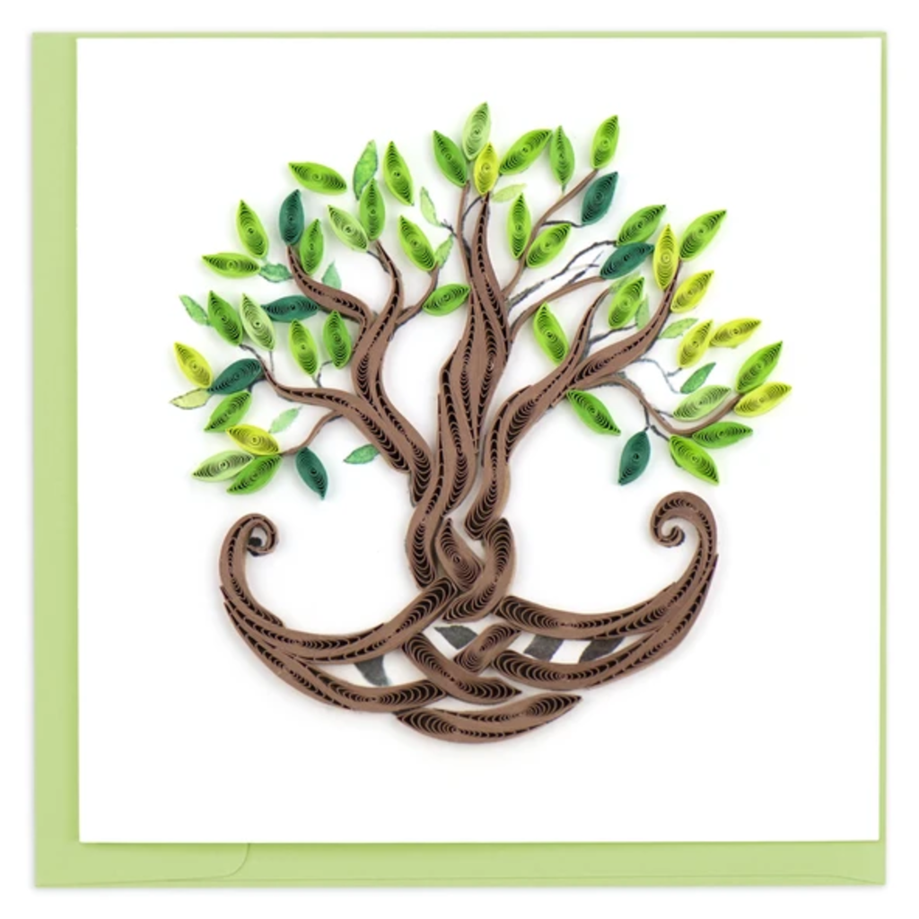 Quilling Card Tree of Life Quilled Card