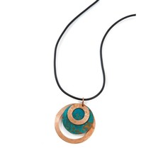 Swahili Imports Viridian Orbit Copper Necklace