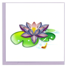 Quilling Card Water Lily Quilled Card