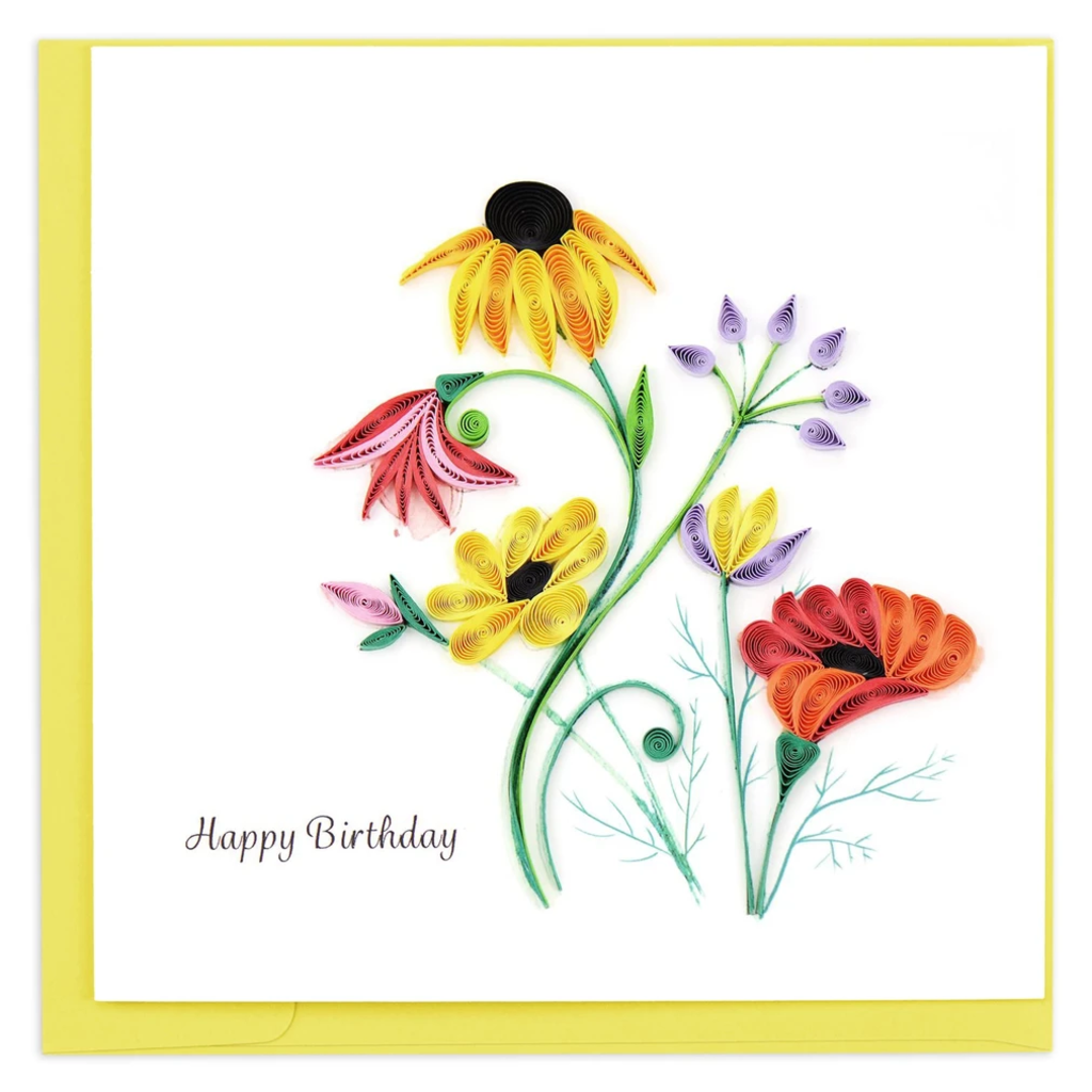 Quilling Card Wildflower Birthday Blooms Quilled Card
