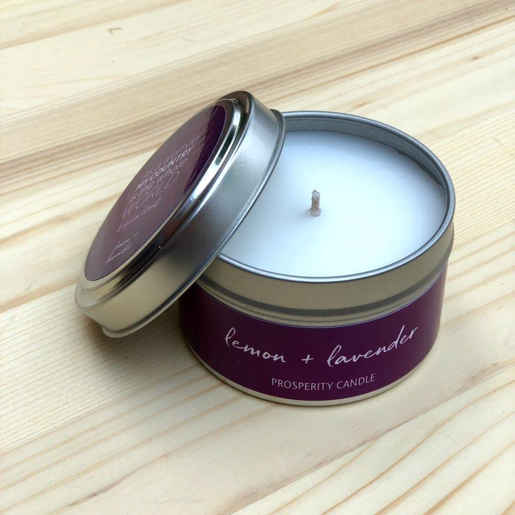 Prosperity Candle Inspiration Quote 4oz Candle: Lemon & Lavender