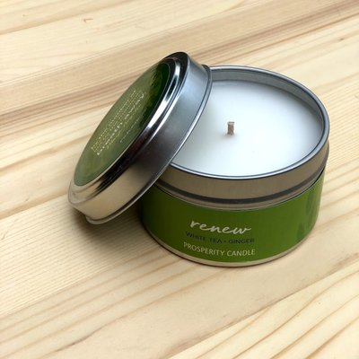 Prosperity Candle Inspiration Quote 4oz Candle: Renew