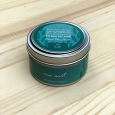 Prosperity Candle Inspiration Quote 4oz Candle: Sea Mist
