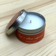 Prosperity Candle Inspiration Quote 4oz Candle: Tea Infusion
