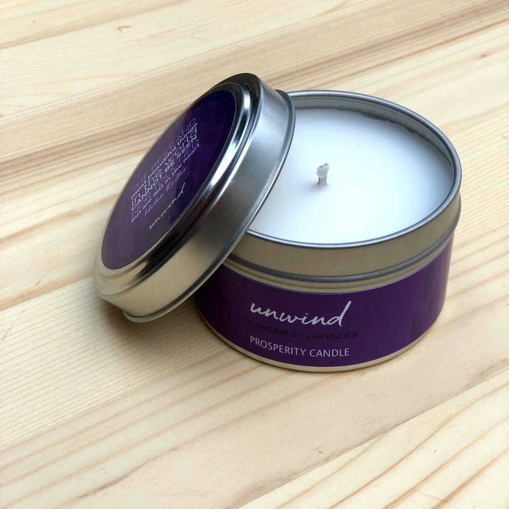 Prosperity Candle Inspiration Quote 4oz Candle: Unwind