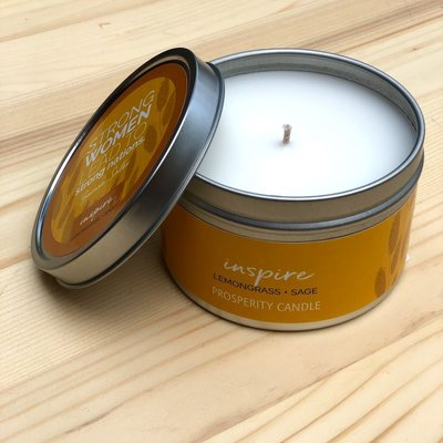 Prosperity Candle Inspiration Quote 6oz Candle: Inspire