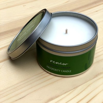 Prosperity Candle Inspiration Quote 6oz Candle: Renew