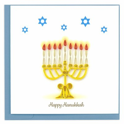 Quilling Card Menorah Hanukkah Quilled Card