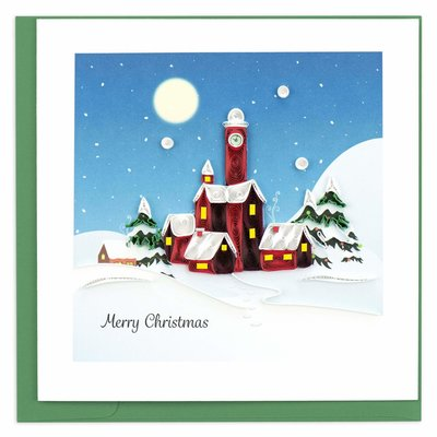 Quilling Card Santa's Village Christmas Quilled Card