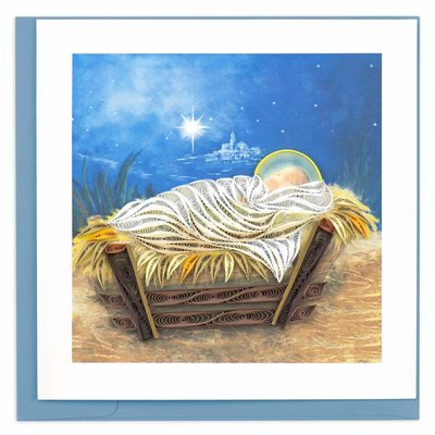 Quilling Card Manger Scene Christmas Quilled Card