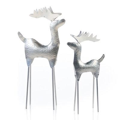 Serrv Hammered Silver Small Reindeer