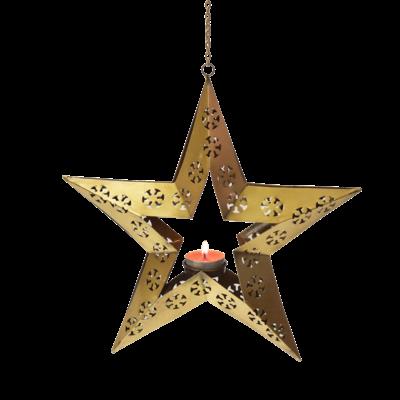 Mira Fair Trade Hanging Star Tealight Lantern