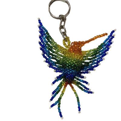 Unique Batik Hummingbird Beaded Keychain