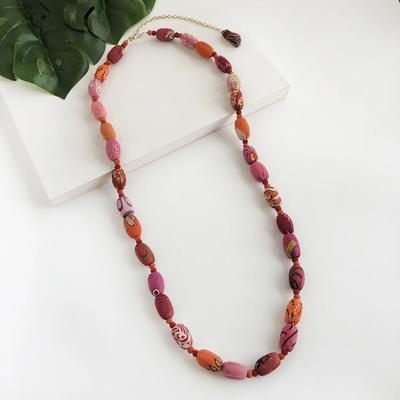 World Finds Kantha Fiesta Necklace