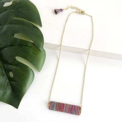 World Finds Raja Rainbow Pendant Necklace